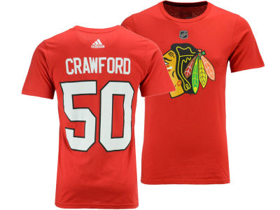 Chicago Blackhawks Corey Crawford adidas NHL Men's Silver Player T-shirt