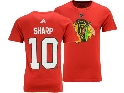 Chicago Blackhawks Patrick Sharp adidas NHL Men's Silver Player T-shirt