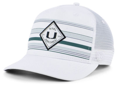 Miami Hurricanes Top of the World NCAA Top Route Trucker Cap