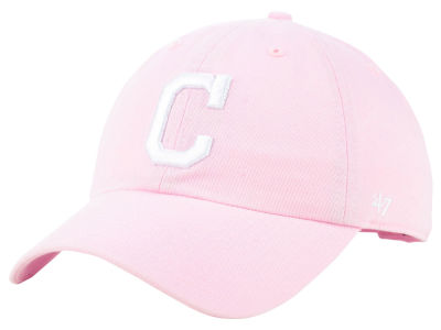 Cleveland Indians '47 MLB Pink '47 CLEAN UP Cap