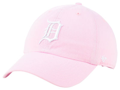 Detroit Tigers '47 MLB Pink '47 CLEAN UP Cap