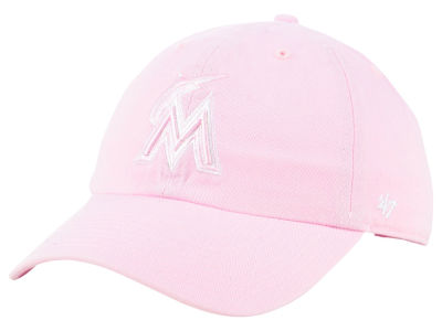 Miami Marlins '47 MLB Pink '47 CLEAN UP Cap