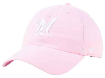 Milwaukee Brewers '47 MLB Pink '47 CLEAN UP Cap