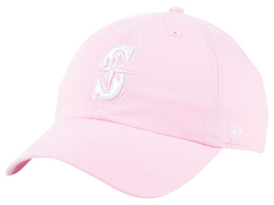 Seattle Mariners '47 MLB Pink '47 CLEAN UP Cap