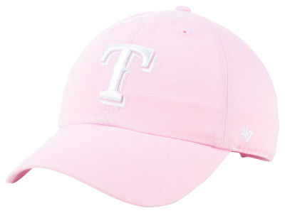 Texas Rangers '47 MLB Pink '47 CLEAN UP Cap