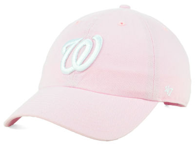 Washington Nationals '47 MLB Pink '47 CLEAN UP Cap