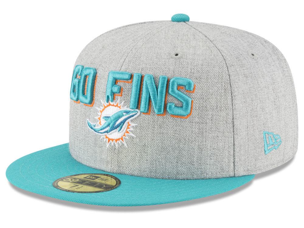 Miami Dolphins New Era 2018 NFL Draft 59FIFTY Cap  df712d7e5