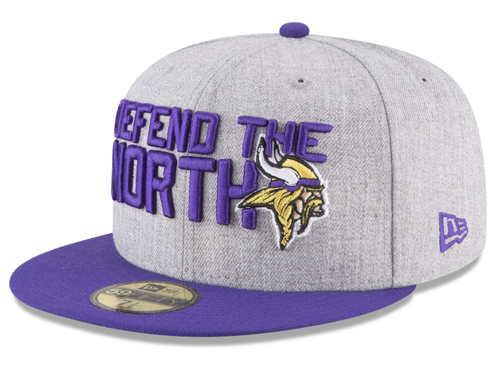 Minnesota Vikings New Era 2018 NFL Draft 59FIFTY Cap  fa74e578f43