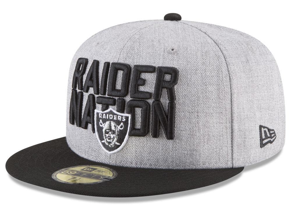 Oakland Raiders New Era 2018 NFL Draft 59FIFTY Cap  d2289cb6a3d
