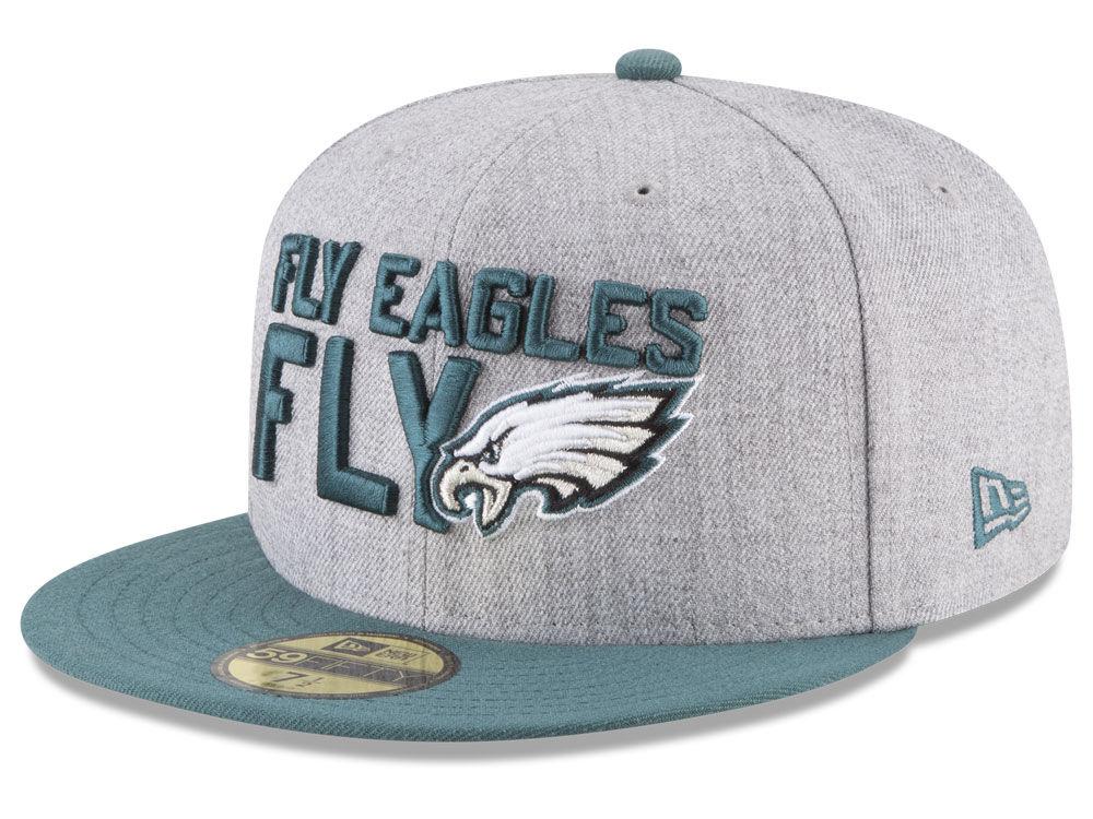 Philadelphia Eagles New Era 2018 NFL Draft 59FIFTY Cap  23bc4a10eb9