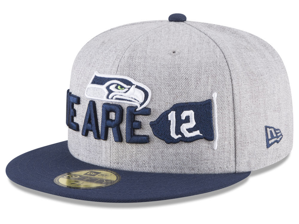 923157122 Seattle Seahawks New Era 2018 NFL Draft 59FIFTY Cap