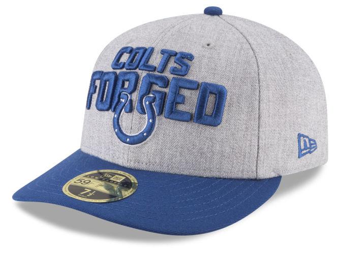 c4b2597d2 Indianapolis Colts New Era 2018 NFL Draft Low Profile 59FIFTY Cap ...