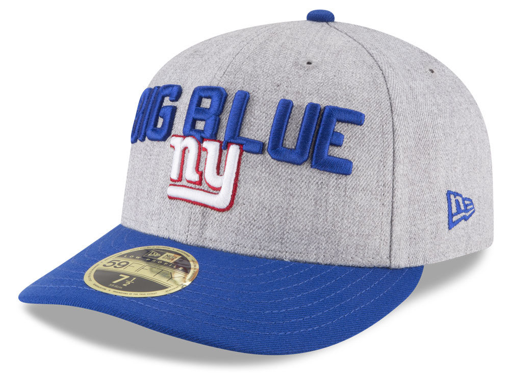 New York Giants New Era 2018 NFL Draft Low Profile 59FIFTY Cap ... 267d2189ab6