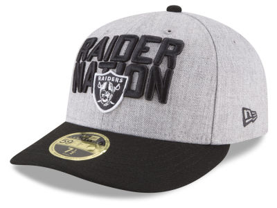 Oakland Raiders New Era 2018 NFL Draft Low Profile 59FIFTY Cap