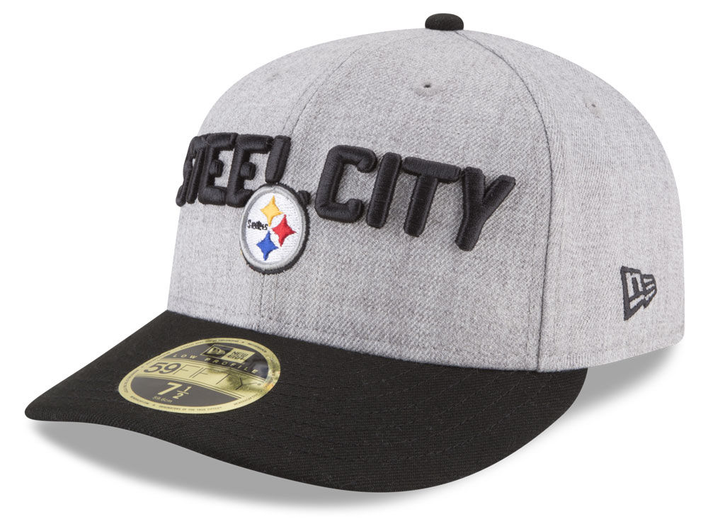 Pittsburgh Steelers New Era 2018 NFL Draft Low Profile 59FIFTY Cap ... 7ba13101c27