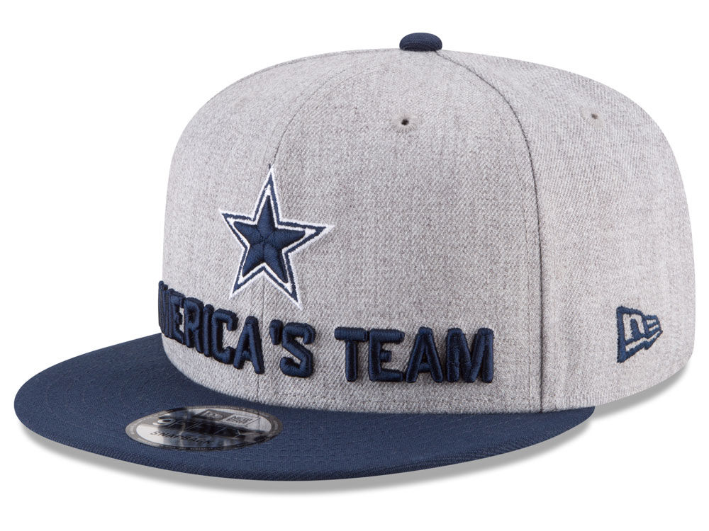 ed7b1a6cd206d ... new style dallas cowboys new era 2018 nfl draft 9fifty snapback cap  976f4 48176