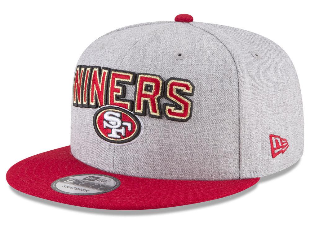 8d7b4fad4 San Francisco 49ers New Era 2018 NFL Draft 9FIFTY Snapback Cap ...