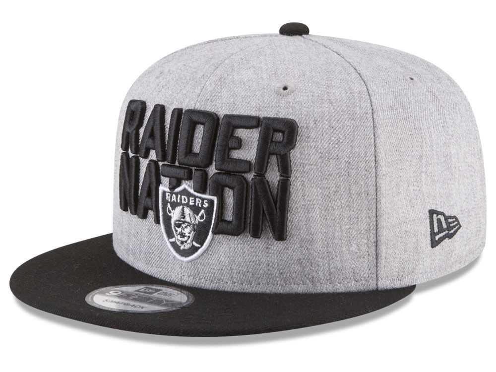 555e7d7f9ec Oakland Raiders New Era 2018 NFL Kids Draft 9FIFTY Snapback Cap ...