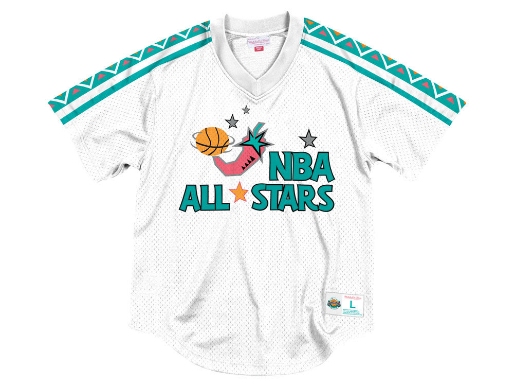 765e8bdca ... Mitchell   Ness 1996 Men s Mesh V-Neck Jersey. Top. NBA ...