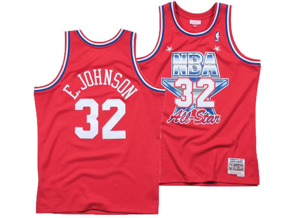 NBA All Star MAGIC JOHNSON Mitchell   Ness 1991 NBA Men s Swingman Jersey  7a32dcf7d