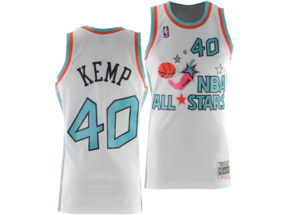35f13adc4 NBA All Star SHAWN KEMP Mitchell   Ness 1996 NBA Men s Swingman Jersey
