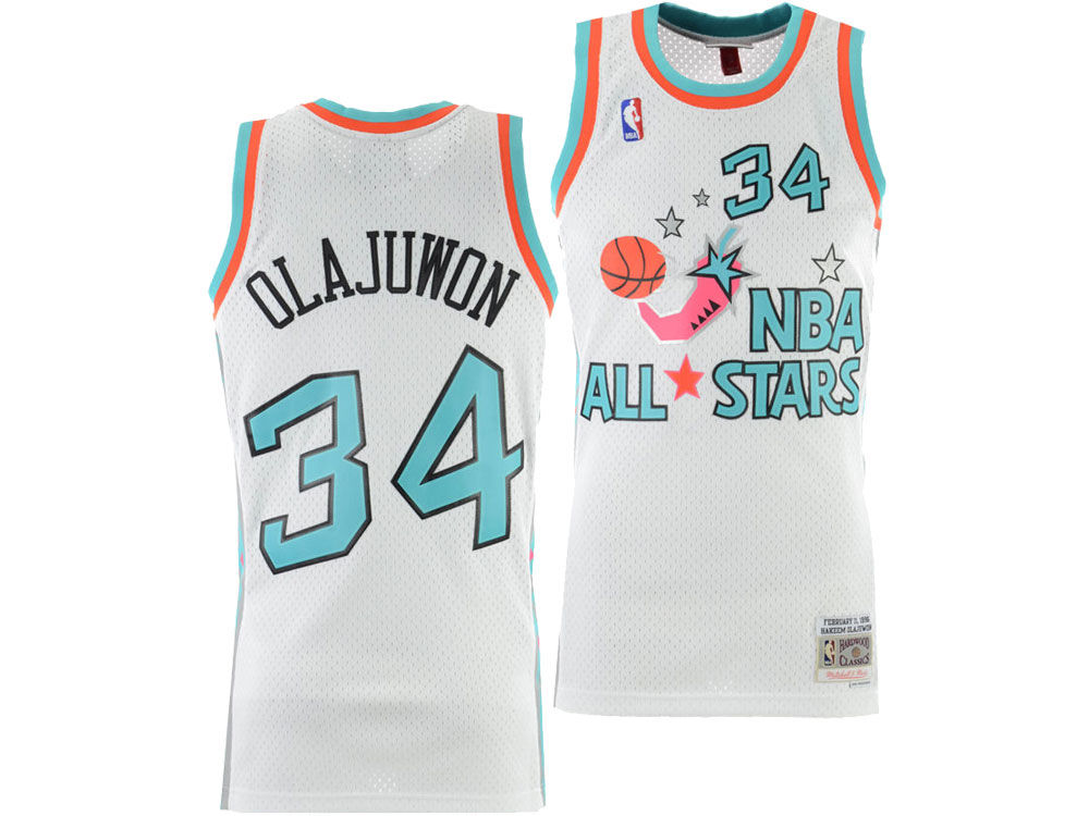 e0ffafc85 NBA All Star HAKEEM OLAJUWON Mitchell   Ness 1996 NBA Men s Swingman Jersey