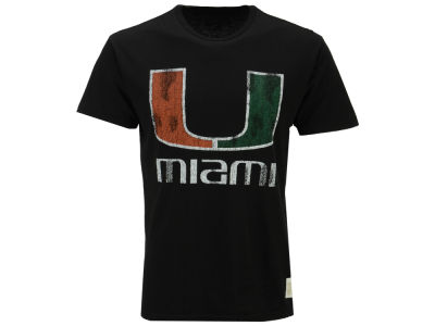 Miami Hurricanes Retro Brand NCAA Men's Double Sided T-Shirt