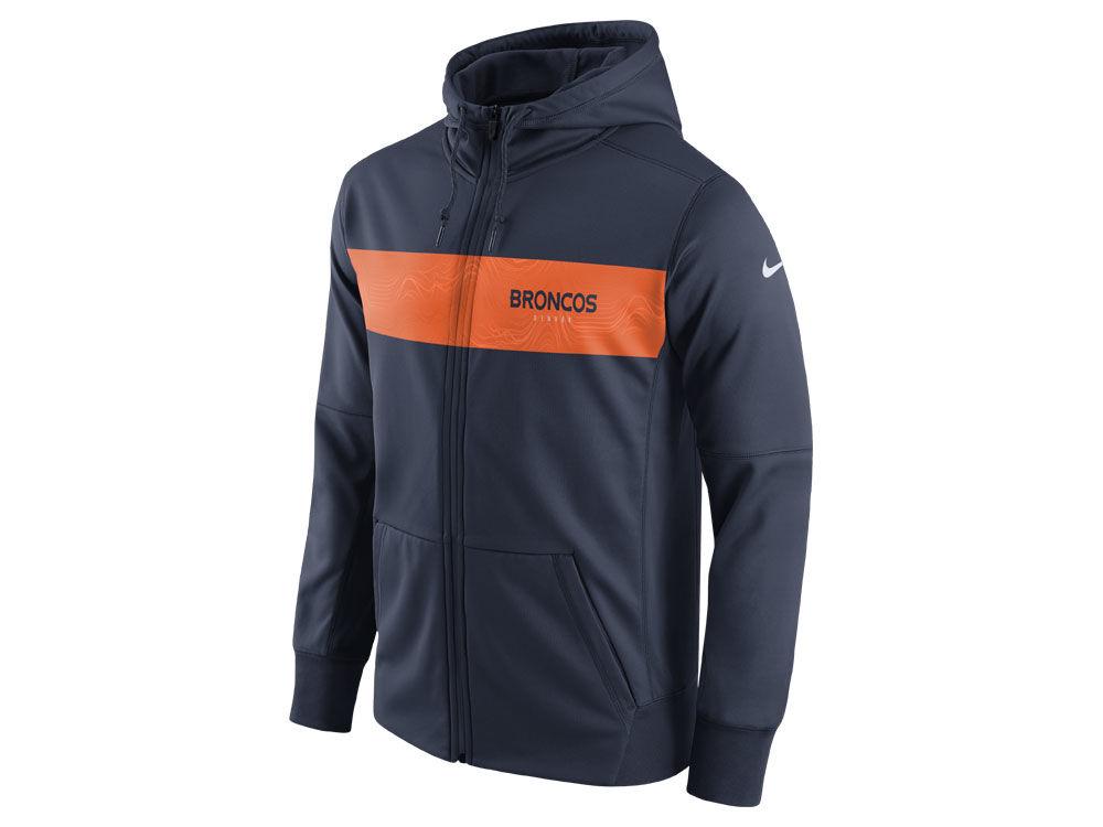 Denver Broncos Nike NFL Men s Seismic Therma Full Zip Hoodie  63c10f3ae
