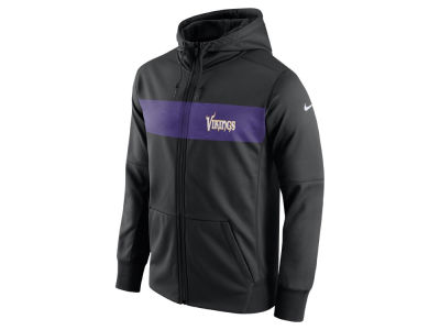 Minnesota Vikings Nike NFL Men's Seismic Therma Full Zip Hoodie