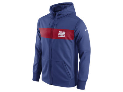 New York Giants Nike NFL Men's Seismic Therma Full Zip Hoodie