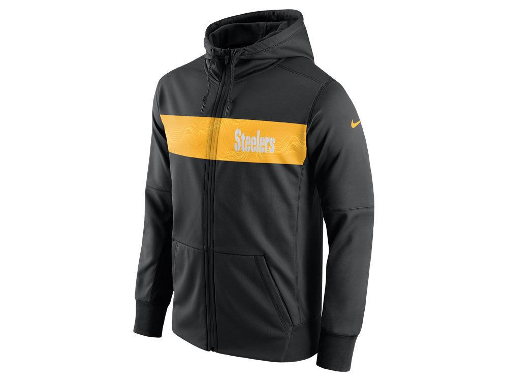 Pittsburgh Steelers Nike NFL Men s Seismic Therma Full Zip Hoodie ... ec13ecaa7