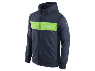 Seattle Seahawks Nike NFL Men's Seismic Therma Full Zip Hoodie