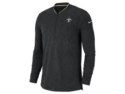 New Orleans Saints Nike NFL Men's Coaches Quarter Zip Pullover