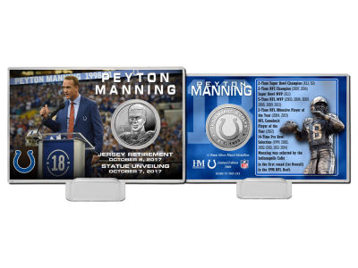 Indianapolis Colts Peyton Manning NFL Retirement Coin Card