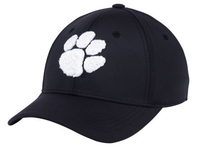 Clemson Tigers Top of the World NCAA Phenom Flex Black White Cap