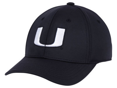 Miami Hurricanes Top of the World NCAA Phenom Flex Black White Cap