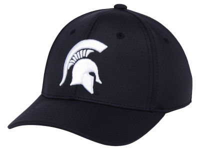 Michigan State Spartans Top of the World NCAA Phenom Flex Black White Cap