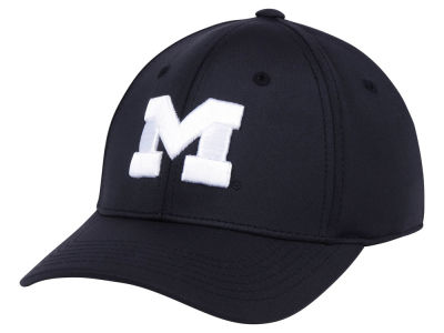 Michigan Wolverines Top of the World NCAA Phenom Flex Black White Cap