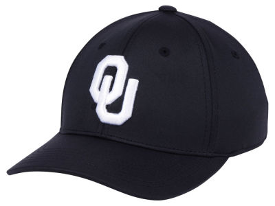 Oklahoma Sooners Top of the World NCAA Phenom Flex Black White Cap