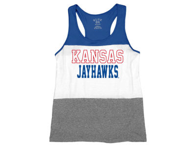 Kansas Jayhawks Blue 84 NCAA Women's Racerback Panel Tank