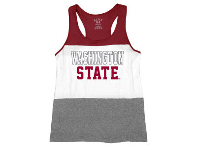 Washington State Cougars Blue 84 NCAA Women's Racerback Panel Tank