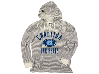 North Carolina Tar Heels NCAA Women's Striped Terry Hooded Sweatshirt