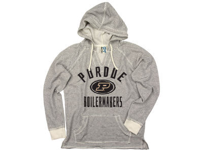 Purdue Boilermakers NCAA Women's Striped Terry Hooded Sweatshirt
