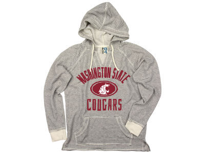 Washington State Cougars NCAA Women's Striped Terry Hooded Sweatshirt