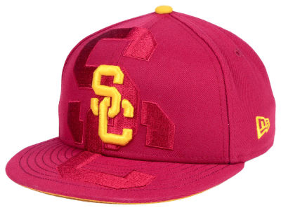 USC Trojans New Era NCAA Youth Logo Spill 9FIFTY Snapback Cap