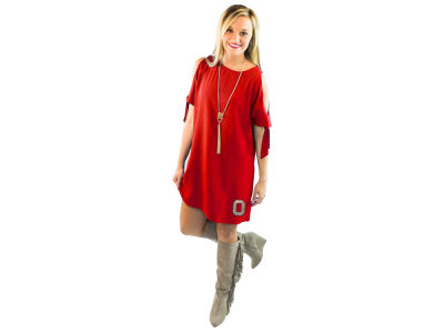 Ohio State Buckeyes Gameday Couture NCAA Women's Cold Shoulder Tie Dress