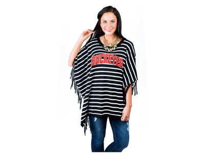 Ohio State Buckeyes Gameday Couture NCAA Women's Fringe Poncho