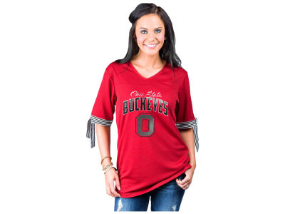 Ohio State Buckeyes Gameday Couture NCAA Women's Tie Sleeve Tunic Jersey