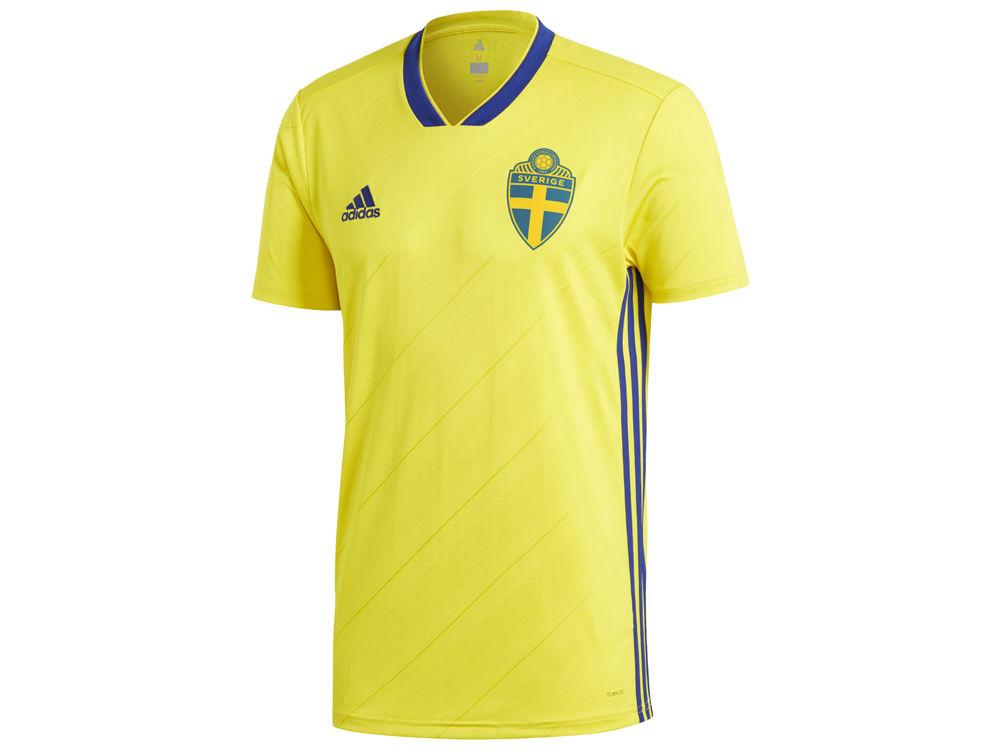 Sweden adidas Men s National Team Home Stadium Jersey  7dbbb38e4