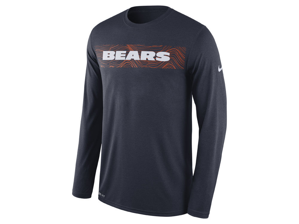 Chicago Bears Nike NFL Men s Legend On-Field Seismic Long Sleeve T-Shirt  9e544df7c3f